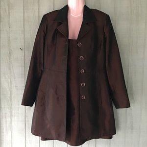 Metallic-like Brown  Dress & Coat